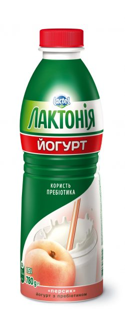 "Yogurt  Peach with lactulose"" 1,5%,  ""Lactonia"" (Bottle 0,780)"