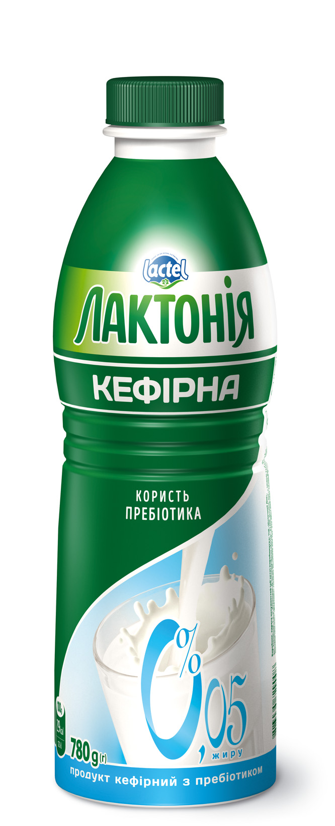 """Kefirnyi product with lactulose 0% non-fat """"Lactonia"""" (Bottle  0,780)"""