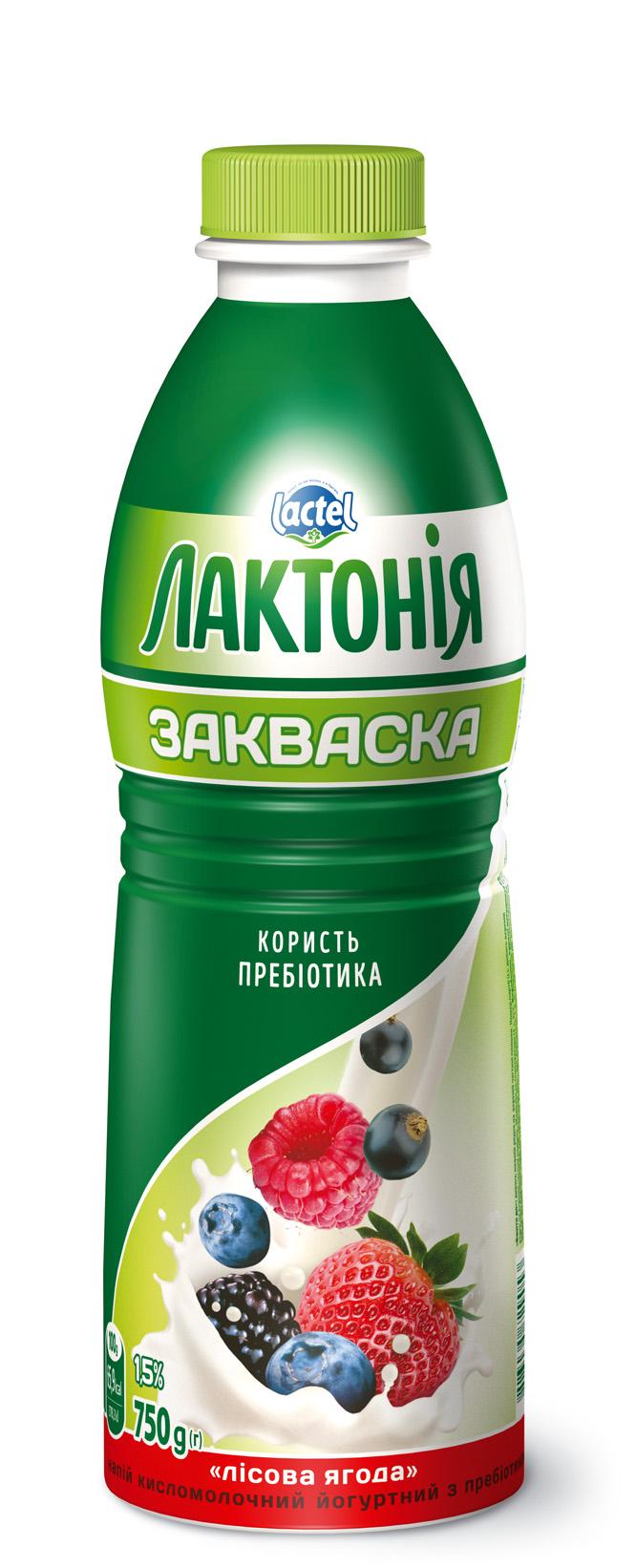 "Dairy yogurt  drink with ""Zakwaska""  Wild Berry 1,5%,  ""Lactonia"" (Bottle 0,750)"