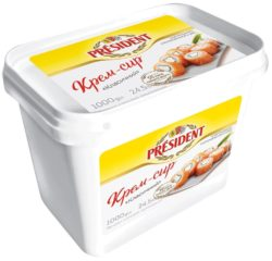 "Cream-cheese ""Classic"" President  24,5% fat (bucket 1,000 kg)"
