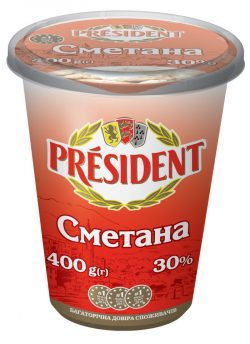 Sour Cream President 30% (Cup 0,400 kg)