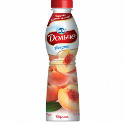 Drinkable yoghurt 2,5% Peach Dolce (bottle 0,500 kg)