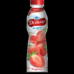 Drinkable yoghurt 2,5% Strawberry Dolce (bottle 0,500 kg)