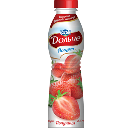 Drinkable yoghurt 2,5% Strawberry Dolce (bottle 0,500 kg)