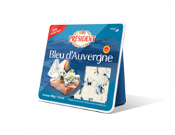 Blue-veined cheese Bleu d'Auvergne 50% Président
