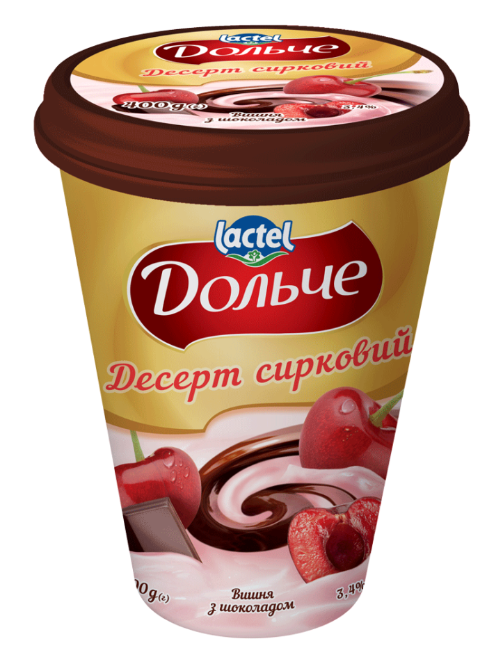 Dessert with chocolate 3,4% Cherry Dolce (cup 0,400 kg)