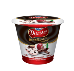 "Dessert 4,5% ""Italian collection"" cherry with straciatella Dolce (cup 0,120 kg)"