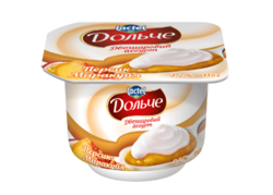 Yoghurt 3,2% double-layer Peach-Passion Fruit Dolce (cup 0,115 kg)