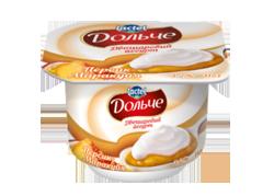 Yoghurt 3,2% double-layer Peach-Passion Fruit Dolce (cup 0,115 kg)