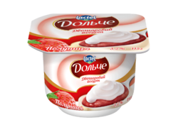 Yoghurt 3,2% double-layer Strawberry Dolce (cup 0,115 kg)