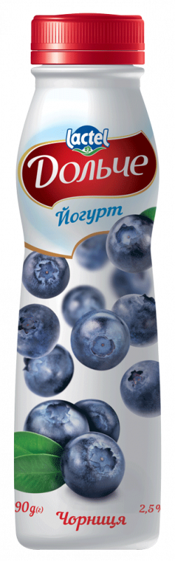 Drinkable yoghurt 2,5% Blueberry Dolce (bottle 0,290 kg)