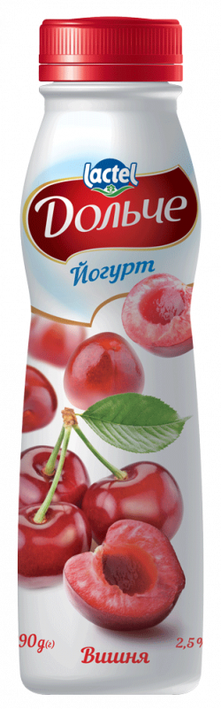 Drinkable yoghurt 2,5% Cherry Dolce (bottle 0,290 kg)