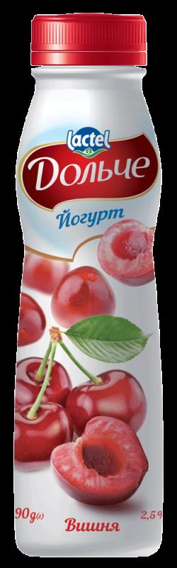Drinkable yoghurt 2,5% Cherry Dolce (bottle 0,290 kg)