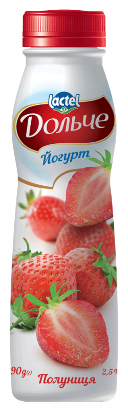 Drinkable yoghurt 2,5% Strawberry Dolce (bottle 0,290 kg)