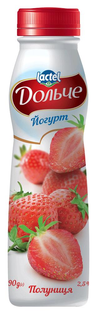 Drinkable yoghurt 2,5% Strawberry Dolce (bottle 0,290 kg)