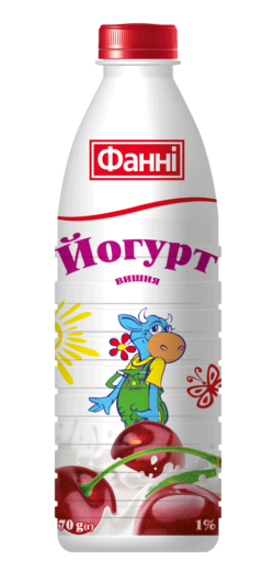 Drinkable yoghurt 1% Cherry Fanni (bottle 0,870 kg)