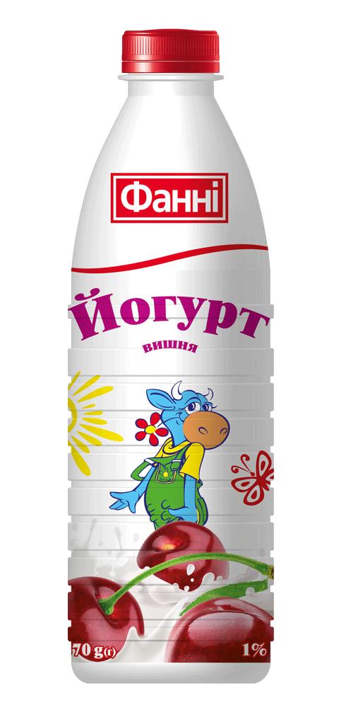Drinkable yoghurt 1% Cherry Fanni (bottle 0,870 kg)