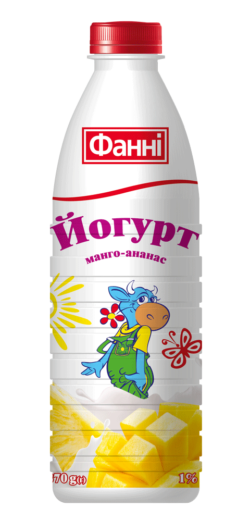 Drinkable yoghurt 1% Mango-ananas Fanni (bottle 0,870 kg)