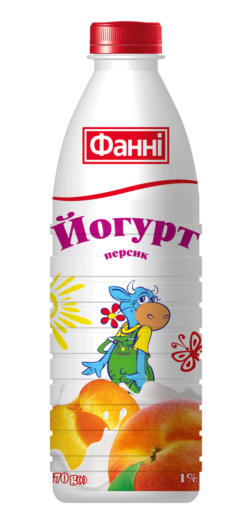 Drinkable yoghurt 1% Peach Fanni (bottle 0,870 kg)