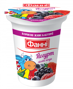Yoghurt 1,5% Wild Berry (cup 0,280 kg)