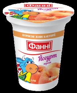Yoghurt 1,5% Peach Fanni (cup 0,280 kg)