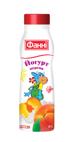 Drinkable yoghurt 1% Peach Fanni (bottle 0,290 kg)