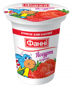 Yoghurt 1,5% Strawberry Fanni (cup 0,280 kg)