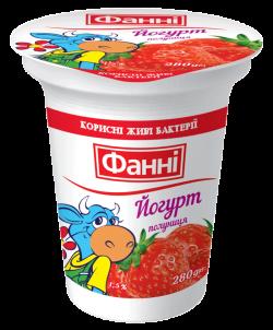 Yoghurt 1,5% Strawberry Fanni (cup 0,280 kg)