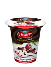 """Dessert 4,5% """"Italian collection"""" cherry with straciatella Dolce (cup 0,120 kg)"""