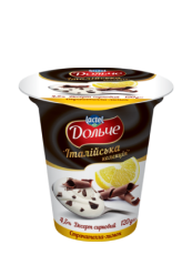 """Dessert 4,5% """"Italian collection"""" lemon with straciatella Dolce (cup 0,120 kg)"""