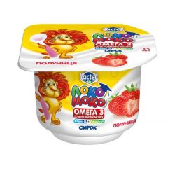 Syrok 4% Strawberry, with Calcium, Omega3 and Vitamin D3 Loko Moko (cup 0,090 kg)