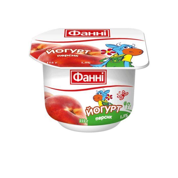 Yoghurt 1,5% Peach Fanni (cup 0,115 kg)