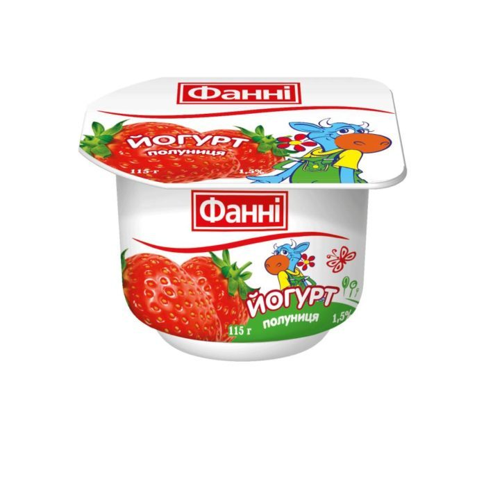 Yoghurt 1,5% Strawberry Fanni (cup 0,115 kg)