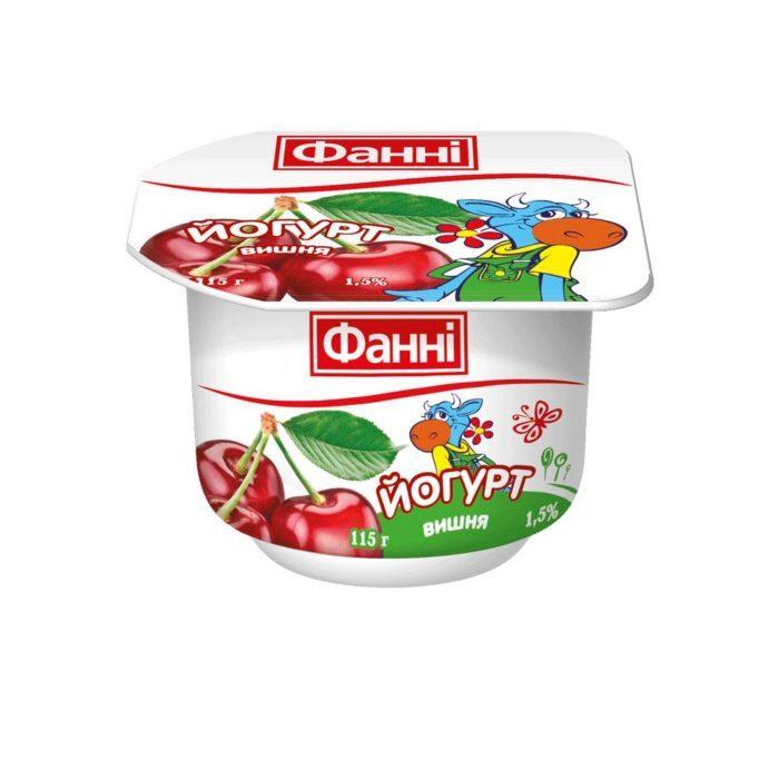 Yoghurt 1,5% Cherry Fanni (cup 0,115 kg)