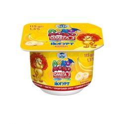 Yoghurt 1,5% Banana, with Calcium, Omega3 and Vitamin D3 Loko Moko (cup 0,115 kg)