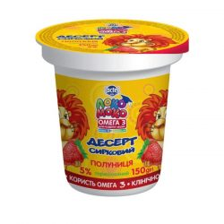 Dessert 5% Strawberry, with Calcium, Omega3 and Vitamin D3 Loko Moko (cup 0,150 kg)
