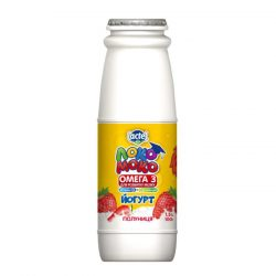 Drinkable yoghurt 1,5% Strawberry, with Calcium, Omega3 and Vitamin D3 Loko Moko (bottle 0,100 kg)