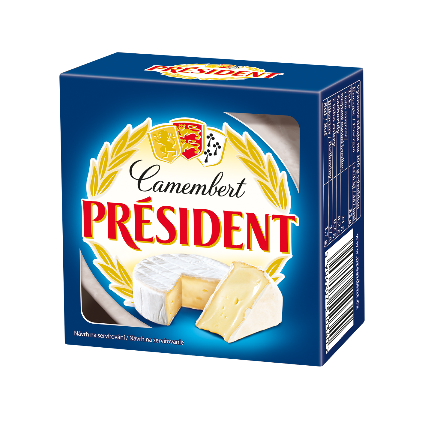 Soft cheese Camembert  60% Président