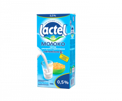 Ultra heat-treated milk Lactel with vitamin D3 low fat