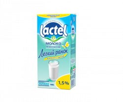 "Ultra heat-treated low-lactose milk ""Easy morning"" Lactel 1,5%"