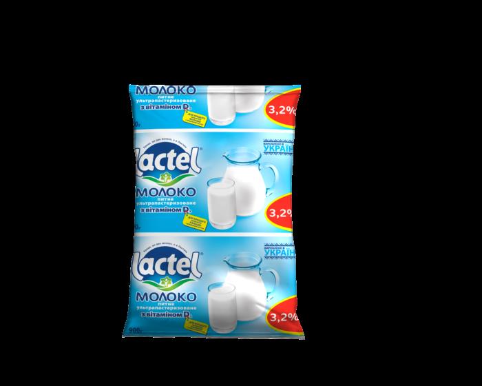 Ultra heat-treated milk Lactel with vitamin D3 3,2%