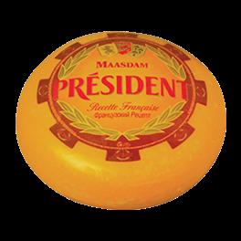 Semi-hard cheese Maasdam 48% Président