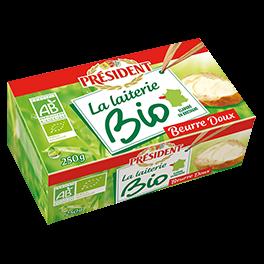Unsalted organic butter 82% Président