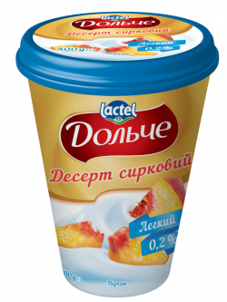 Dessert low-fat 0,2% Peach Dolce (cup 0,400 kg)