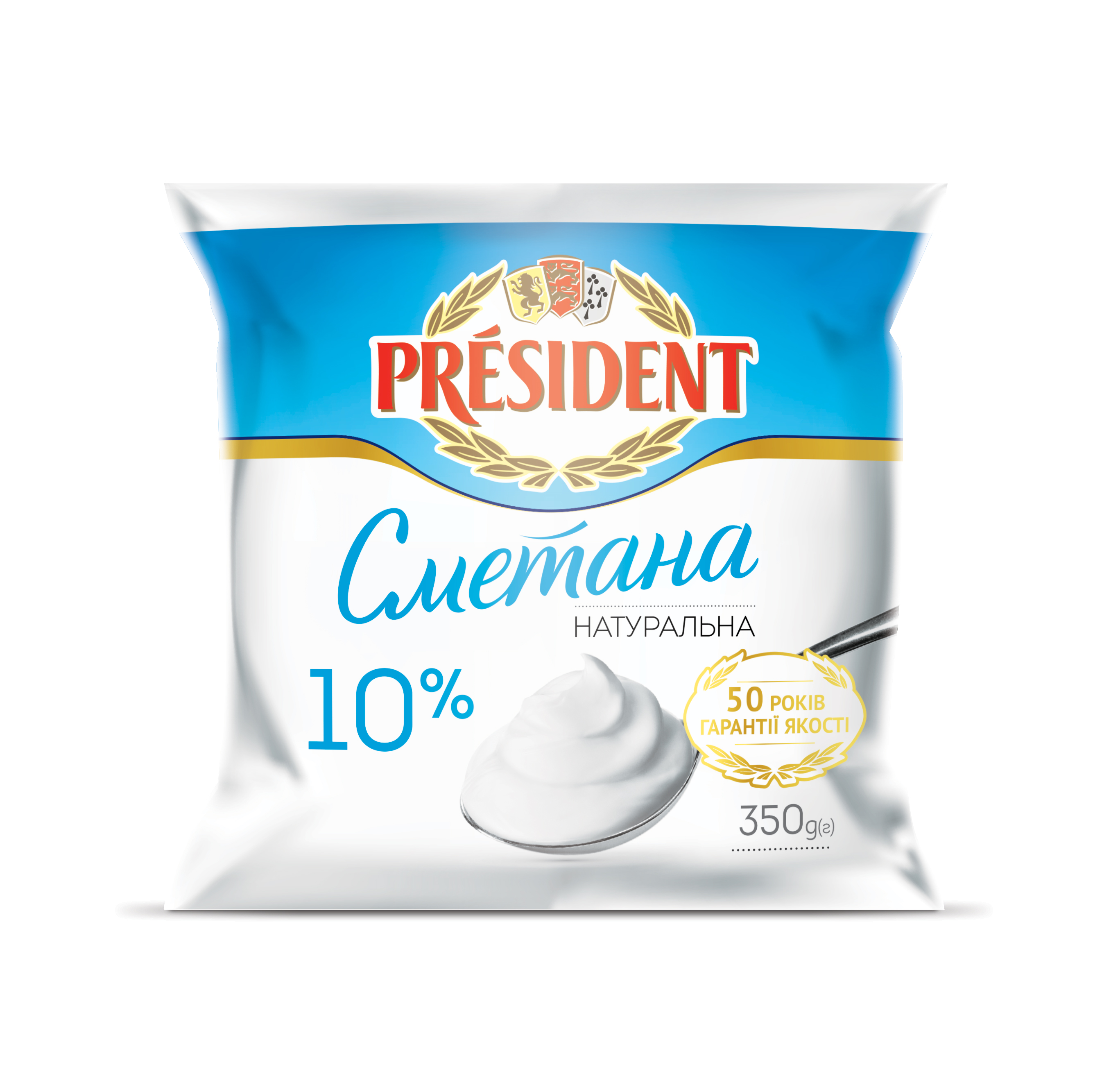 Sour Cream President 10% (Cup 0,350 kg)