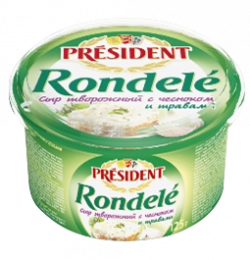 Rondelé cheese with garlic and herbs 70% President