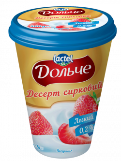 Dessert low-fat 0,2% Strawberry Dolce (cup 0,400 kg)