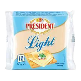 Light processed cheese slices 20% Président
