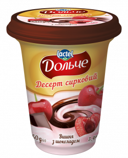 Dessert with chocolate 3,4% Cherry Dolce (cup 0,350 kg)