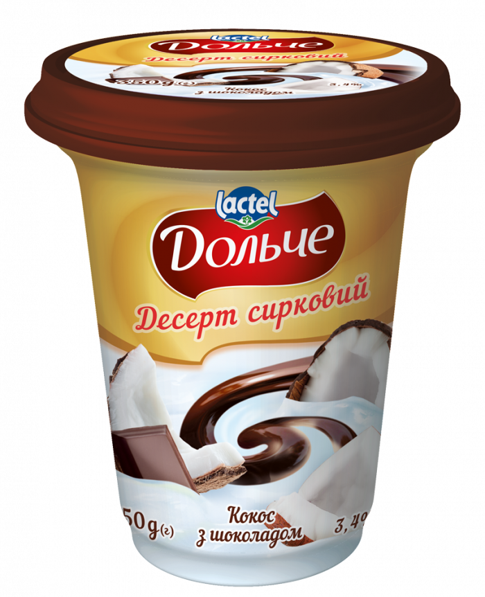 Dessert with chocolate 3,4% Coconuti Dolce (cup 0,350 kg)